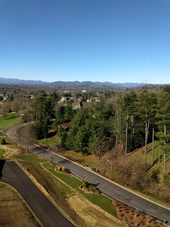 March 2, 2018 - Asheville, NC - view from Grove Park Inn Editorial