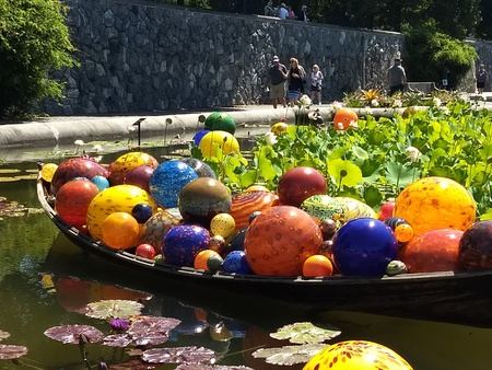 Editorial - July 21, 2018 -  Chihuly exhibit at the Biltmore Estate, NC Redactioneel