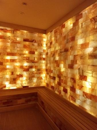 September 1, 2018 - Charlotte, NC - Ritz Carlton salt sauna Editorial