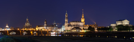 damper: Canaletto View at night in Dresden