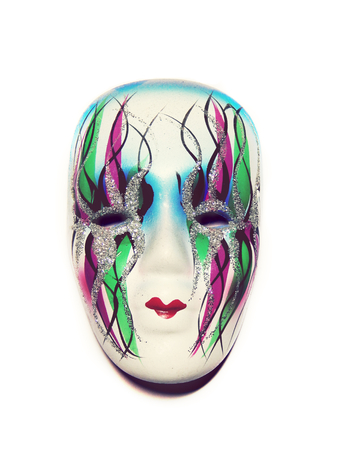 Beautiful masquerade venetian mask isolated photo