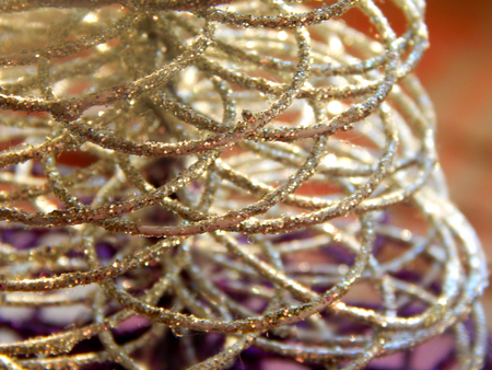 Abstract decoration silver wire photo
