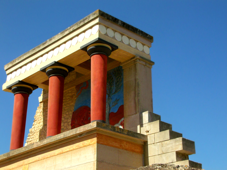 The remains of the Minoan civilization in Knossos, Crete, Greece photo