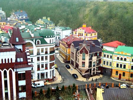 kyiv: Andriyivskyy Descent in Kyiv, Ukraine Stock Photo
