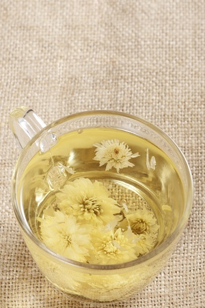 energizing: A cup of flower tea, from chrysanthemums