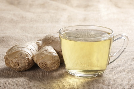 A cup of a healthy ginger tea Stock Photo