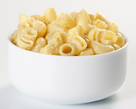 Macaroni and cheese in the bowl photo