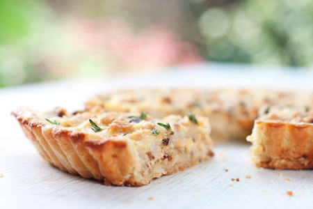 Сauliflower and caramelized onion tart  Stock Photo