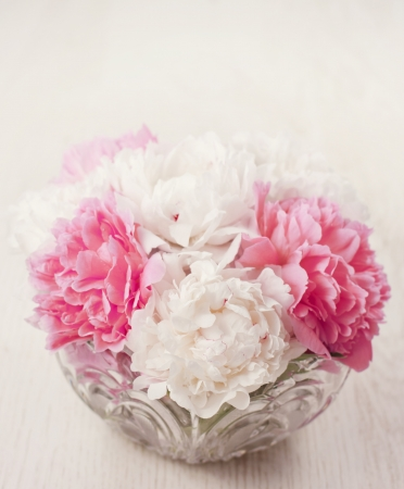Vase of beautiful fresh peony flowers Stock Photo - 17925506