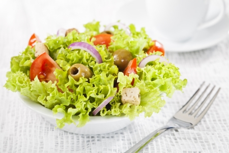Fresh healthy vegetable salad in bowl Stock Photo - 18372123