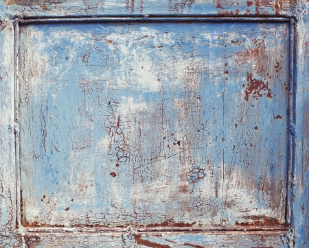 Old grunge wooden blue rustic background photo