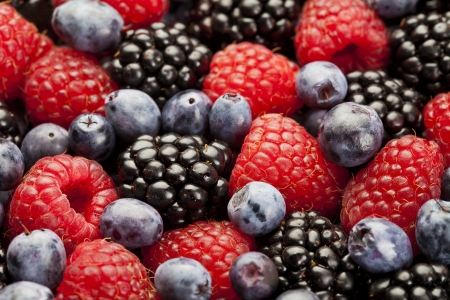 Raspberry, blackberry and blueberry background Stock Photo - 21702813