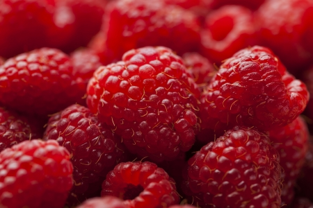 Red ripe fresh raspberry background Stock Photo - 21702840