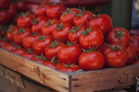 Ripe tomatoes at a farmer's market Stock Photo - 21702844