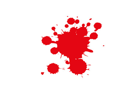 bloodstain: red Paint Splash isolated on white