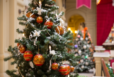 Russian traditional style Christmas tree with ornament photo