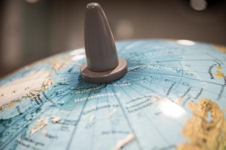 North pole part of a world globe
