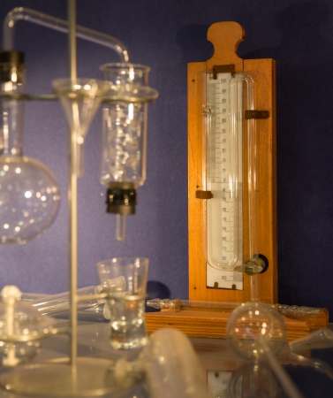 old style test tubes in chemistry laboratory Stock Photo