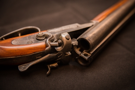 double barrel shotgun  for targets, trap shooting and sporting clays Banco de Imagens - 24380328