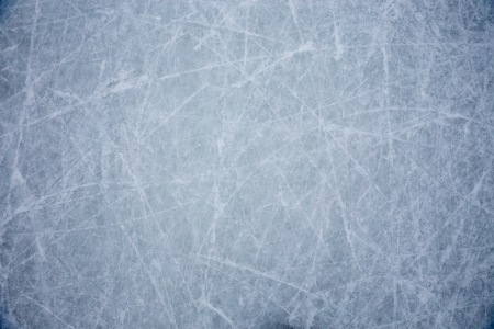 ice background with marks from skating and hockey Stock Photo