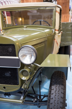 close-up view  of a russian world war 2 period car