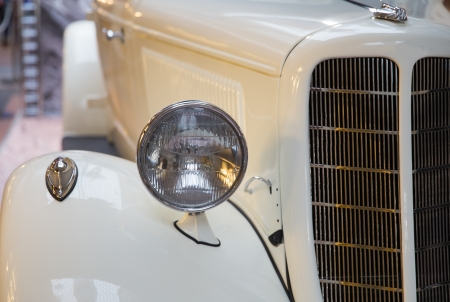 close-up view  of a classic vintage car