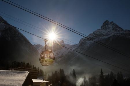 dombay: Cable Car in Russian Dombay, Caucasus Ski Resort