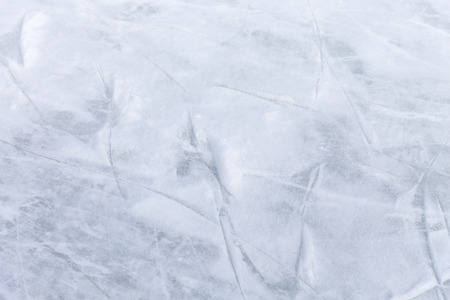 Scratches on the surface of the ice rink