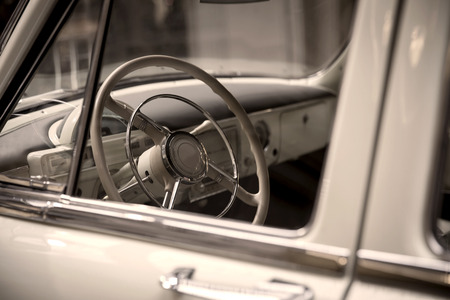 close-up view  of a classic vintage car photo