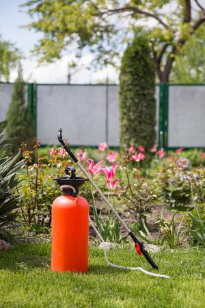 insecticidal: Lawn and garden pesticidefertilizer sprayer Stock Photo