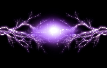Electric lighting effect, abstract techno backgrounds photo