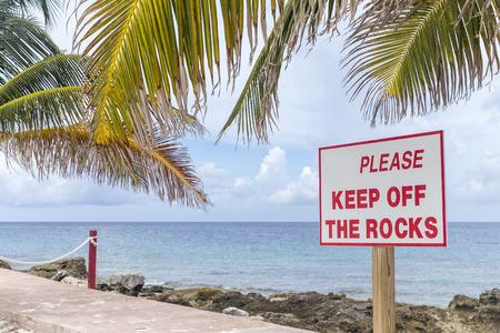 Empty sign on Bahamas beach