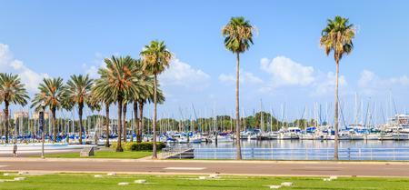 september 2: ST. PETERSBURG, FLORIDA - SEPTEMBER 2: Bay with yachts on September 02, 2014 in St. Petersburg, FL.