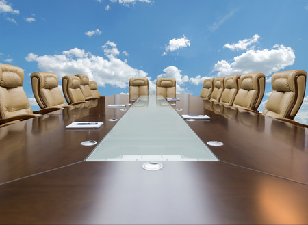 office presentation: luxirious meeting room in a big corporation