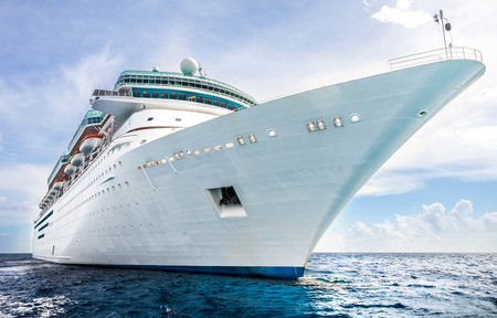 majesty: NASSAU, BAHAMAS - SEPTEMBER, 06, 2014: Royal Caribbeans ship, Majesty of the Seas, sails in the Port of the Bahamas on September 06, 2014