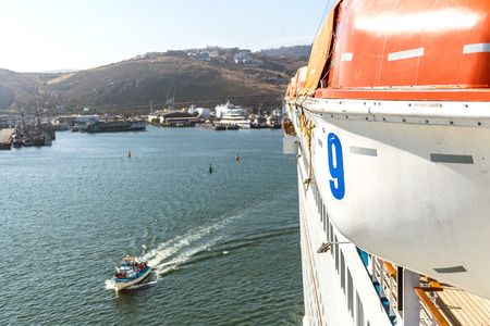 lifeboats: Lifeboats on cruise ship