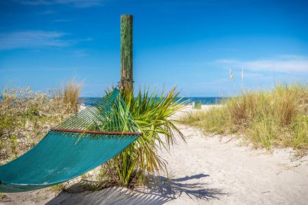 st  pete: Amaca sulla spiaggia di St. Pete, Florida, Stati Uniti d'America