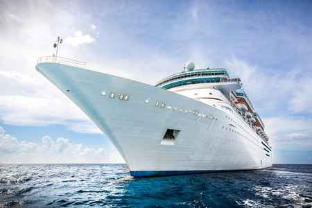 caribbeans: NASSAU, BAHAMAS - SEPTEMBER, 06, 2014: Royal Caribbeans ship, Majesty of the Seas, sails in the Port of the Bahamas on September 06, 2014