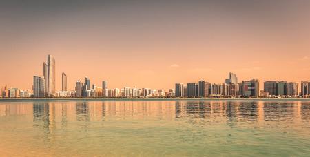 panoramic beach: Abu Dhabi Skyline