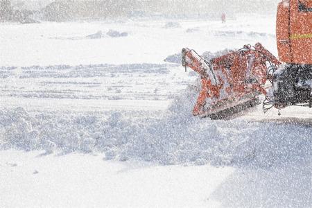 Snowplow usuwanie śniegu z dróg miasta