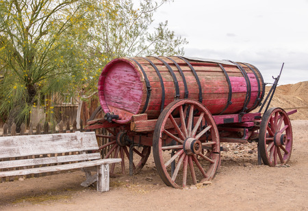 waggon: Old wagon for water transportation