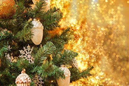 Elegant Christmas tree in a shopping mall