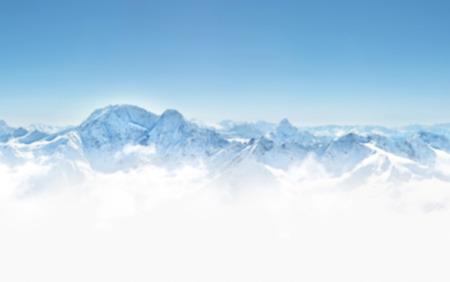 dombai: Panorama of winter mountains in Caucasus region,Elbrus mountain, Russia