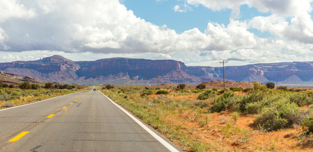 Highway leading into Monument Valley, Utah, USA Stock Photo