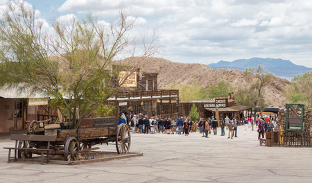 mining town: MAY 23. 2015- Calico, CA, USA: Calico is a ghost town in San Bernardino County, California, United States. Was founded in 1881 as a silver mining town. Now it is a county park. Editorial