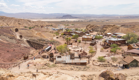 calico: Calico town - the Official State Silver Rush Ghost Town. Calico is a park that belongs to San Bernardino County. Editorial