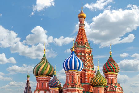 st  basil: St. Basil cathedral on Red Square in Moscow, Russia