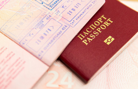 pasaporte: Pasaportes rusos Foto de archivo