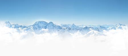 Panorama of winter mountains in Caucasus region,Elbrus mountain, Russia 版權商用圖片 - 43028714