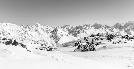 dombai: Mountains landscape, Caucasus Russia